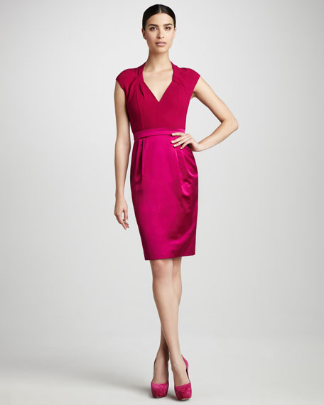 Cap-Sleeve Cocktail Dress