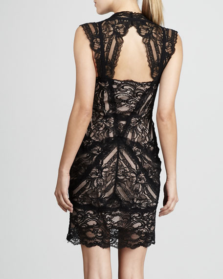 Stretch-Lace Cocktail Dress