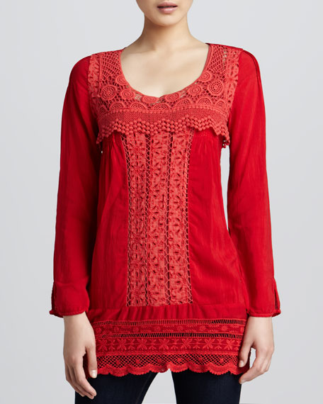 Melinda Crochet-Detail Tunic, Women's
