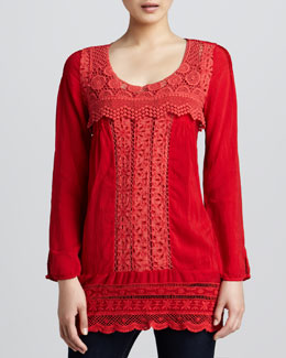 Johnny Was Collection Melinda Crochet-Detail Tunic