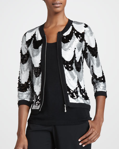 Sequined Scallop Jacket, Women's