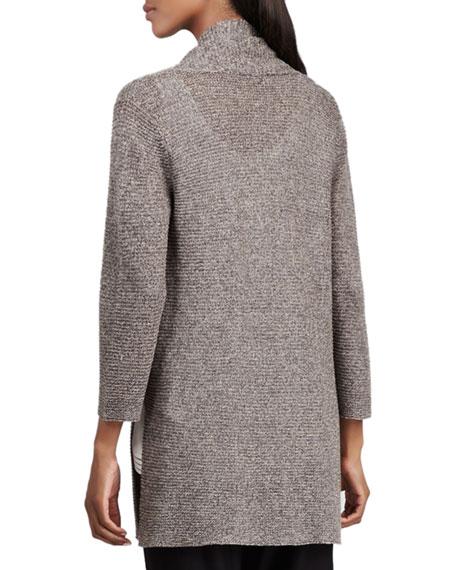 Long Linen-Mesh Cardigan, Women's