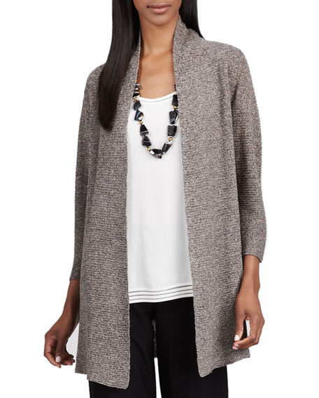 Long Linen-Mesh Cardigan, Women's