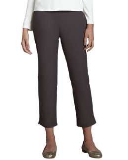 Eileen Fisher Twill Ankle Pants, Petite