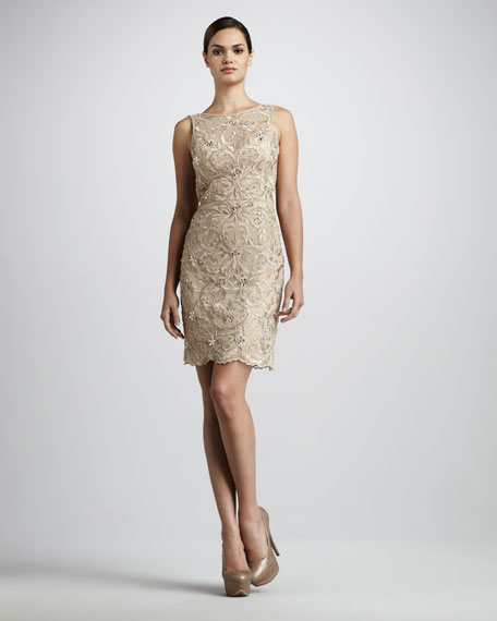 Scalloped Cocktail Dress