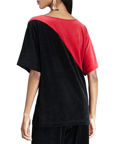 Velour Colorblock Tunic