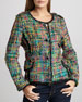 Colorful Crayons Boucle Jacket, Petite