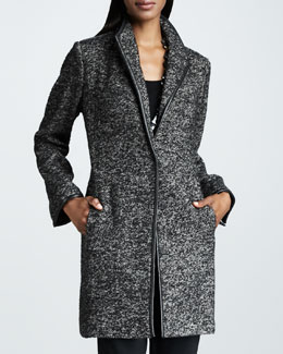 Eileen Fisher Speckled Tweed Jacket