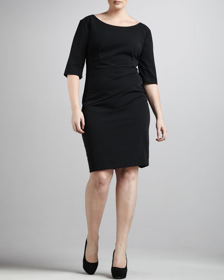 Gathered Sheath Dress, Women's