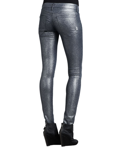 The Looker Stone Blue Glimmer Skinny Jeans
