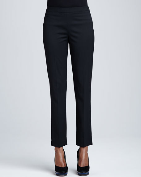 Bleecker Stretch-Wool Pants, Black