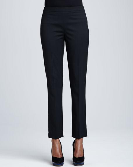 Bleecker Stretch-Wool Pants, Black