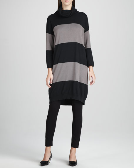 Long Bold-Striped Tunic, Petite