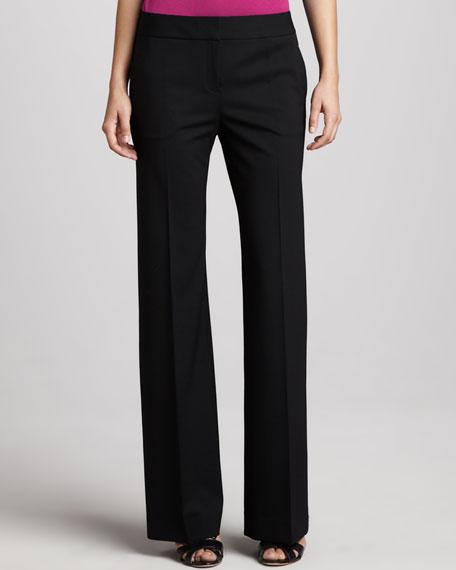 Delancey Flared Pants, Black