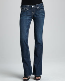 True Religion Becky Houston Flat-Pocket Bootcut Jeans