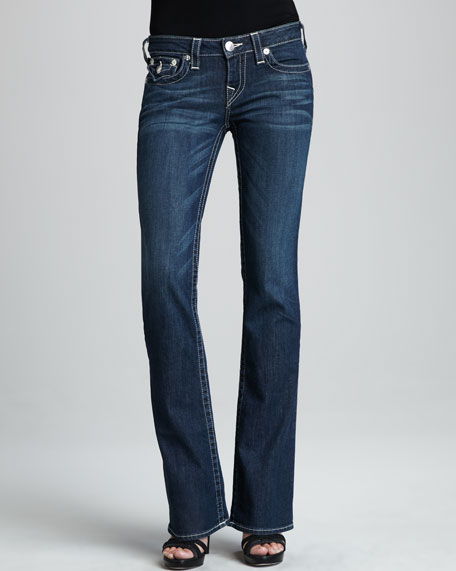 Becky Houston Flat-Pocket Bootcut Jeans