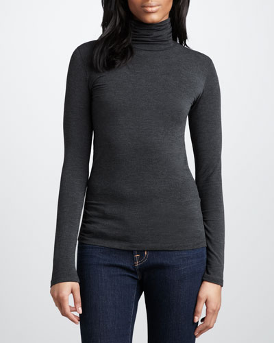Majestic Paris for Neiman Marcus Slim Turtleneck