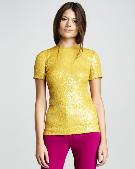 Catalina Couture Sequined Top