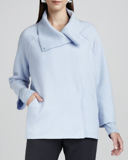 Eileen Fisher Boiled-Wool Coat, Women's