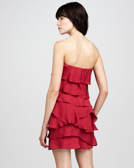Ginger Strapless Ruffled Dress