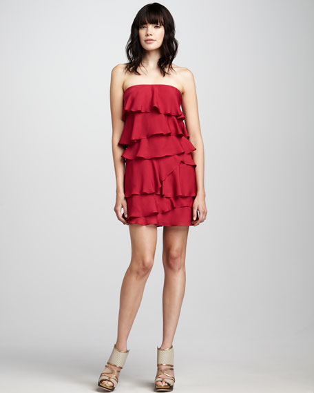 Ginger Strapless Ruffled Dress