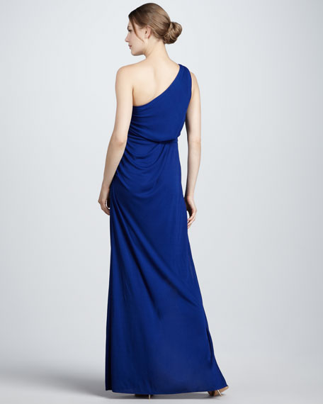 Slit One-Shoulder Gown