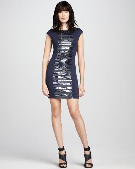 Seri Sequin-Front Dress