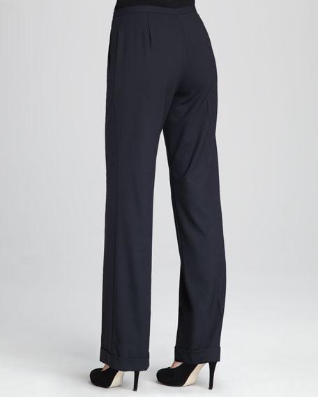Cuffed Wide-Leg Pants
