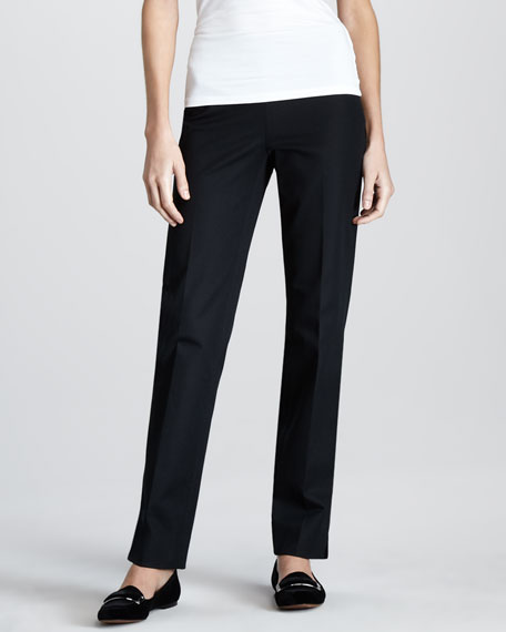 Side-Zip Ankle Pants