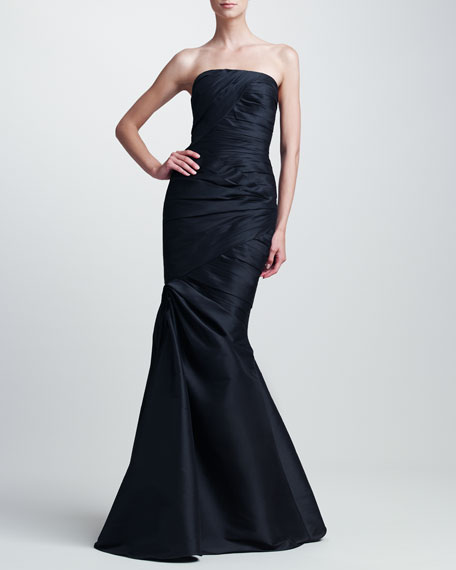 Asymmetric Ruched Gown