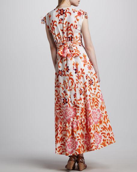 Floral Peasant Maxi Dress