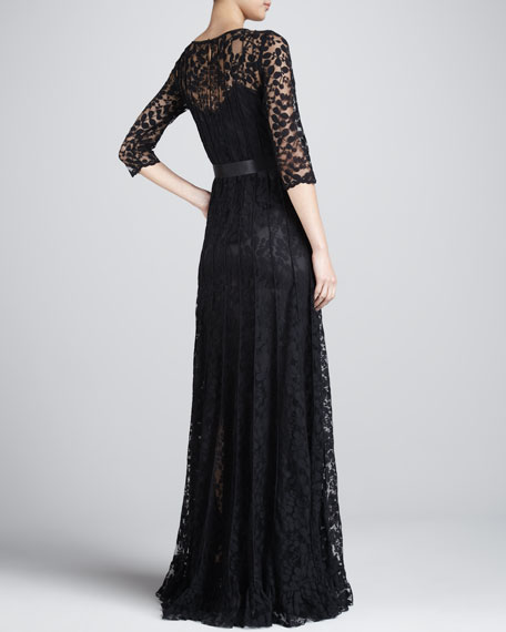 Floral-Lace Gown