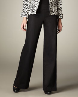Neiman Marcus Wide-Leg Trousers