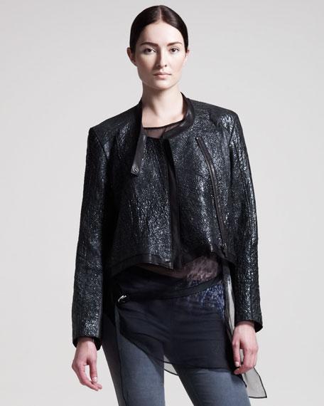Crystal Leather Jacket