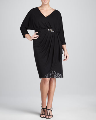 Dinner Party Wrap Dress, Women's