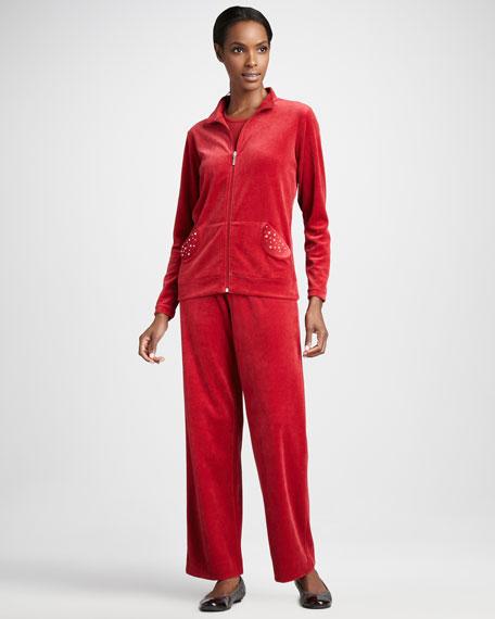 Velour Track Jacket, Women's