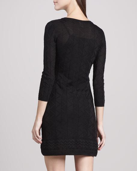 Tonal Zigzag Dress