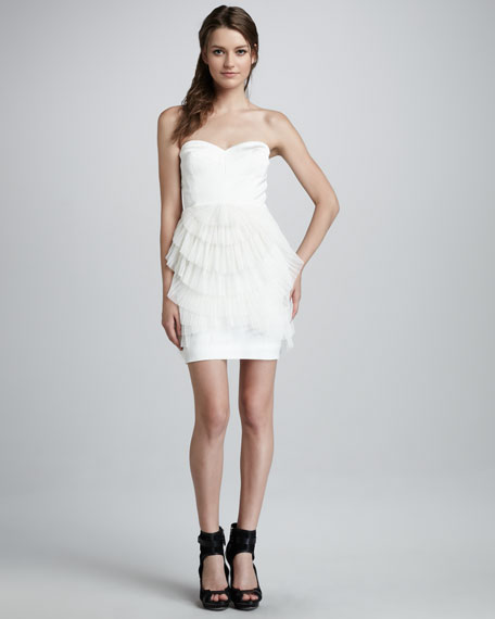 Ruffled Strapless Dress