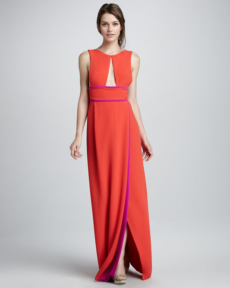 Two-Tone Cutout Gown