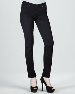 AG Adriano Goldschmied Stilt Sateen Skinny Jeans, Super Black