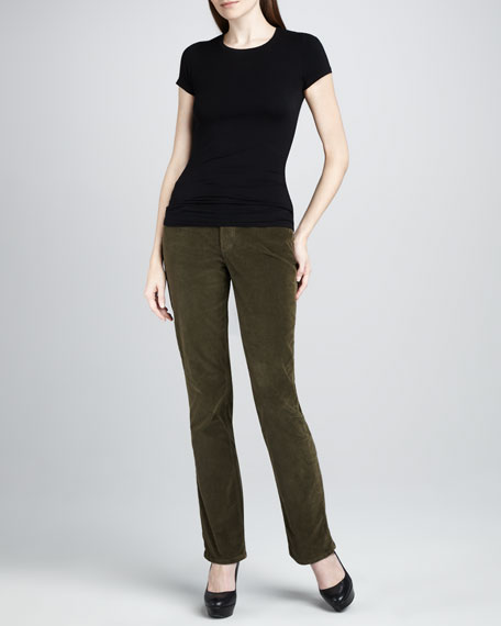 Marilyn Straight-Leg Corduroy Jeans