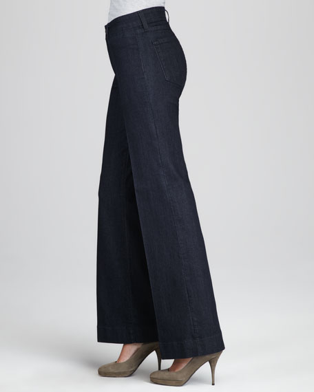Greta Wide-Leg Trousers, Petite