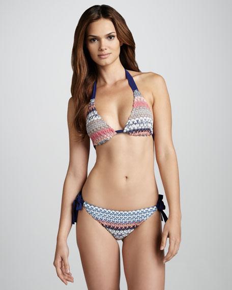 Pizzo Halter Bikini, Blue