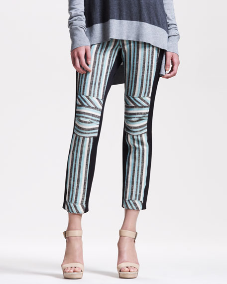 Striped Slim Pants