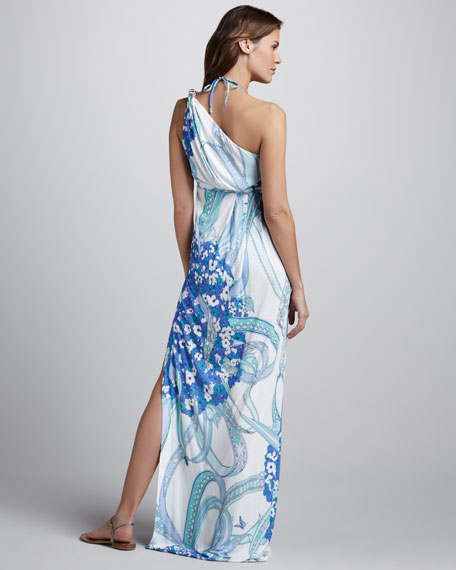 Ortensie One-Shoulder Coverup