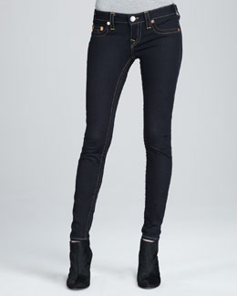 True Religion Casey Body Rinse Low-Rise Super Skinny