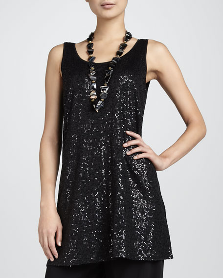 Sequined Sleeveless Tunic