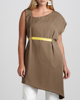 JilRo Sera Asymmetric-Banded Tunic, Women's