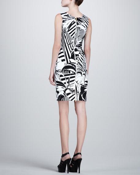Plant-Printed Dress