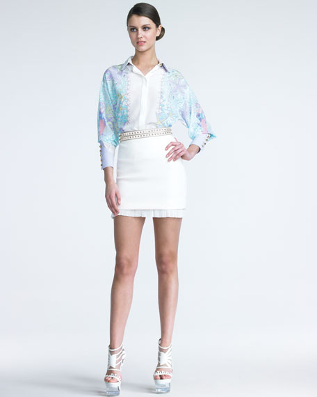 Plisse-Hem Skirt